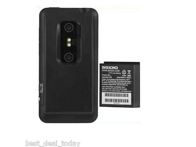 OEM Seidio Wonderful Extended Life Battery With Door For HTC EVO 3D 4000mah Spprint