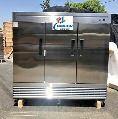 New 83 X 33 X 81 Three Door Upright Freezercommercial Reach In Model 83f Nsf