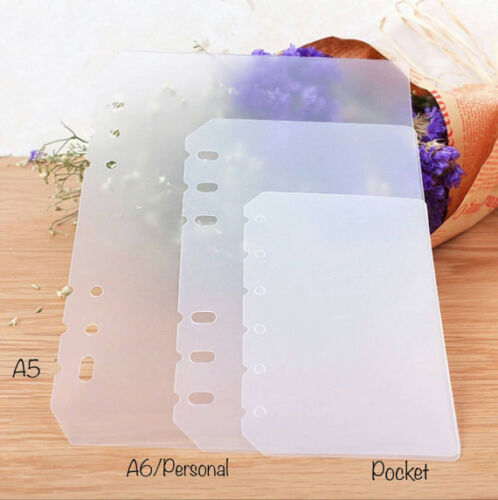 Pvc Clear Frosted Dividers Dashboard For A5 Planners A6 A7 Pocket Agenda
