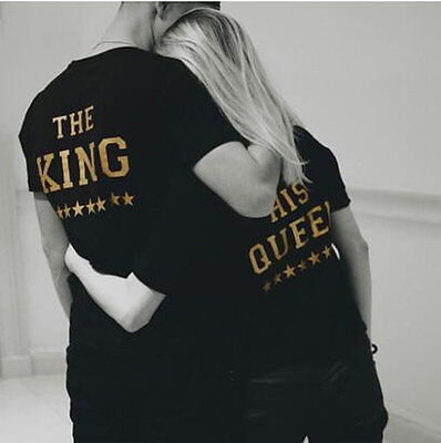 The King His Queen T Shirt Gift Valentines 01 Girlfriend Boyfriend Couple Goals