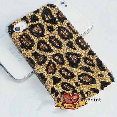 For Mobile Phones Bling Lovely Cheetah Print Gems Rhinestones Hard Case Cover