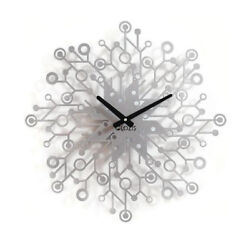Metal Wall Clock Modern Large Unusual Silver Galaxy Home Decor FREE SHIPPING