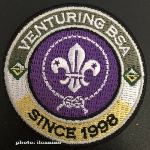 VENTURING BSA SINCE 1998 uniform World Crest (WOSM) ring patch - private issue