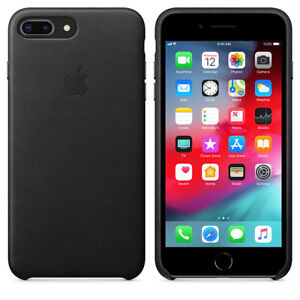 iPhone 8 Plus 64GB Space Grey and Apple Leather Case Black