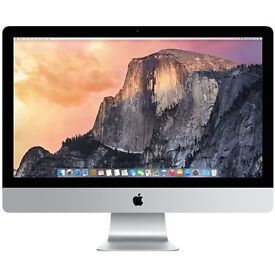 "Apple iMac 27"" just refurbished by Apple 1tb 8gig all the extras, perfect condition"