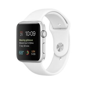 Apple watch series 1 42mm/white sports band