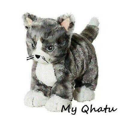 IKEA Lilleplutt Kitty Cat Plush Stuffed Animal Soft Toy Kids Gray White New