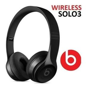 RFB BEATS SOLO3 WIRELESS HEADPHONES MNEN2LL/A 252919384 SOLO 3 GLOSS BLACK BLUETOOTH AUDIO ON EAR HEADPHONES SOUND IS...