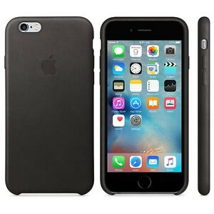 GENUINE APPLE LEATHER BLACK CASE COVER FOR IPHONE 6 PLUS OR 6S+