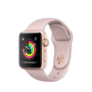 Perfect Condition Series 3 Apple Watch (Gold + Rose Gold Straps)