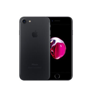 iPhone 7 - black . 32gb . comes with charger and leather case