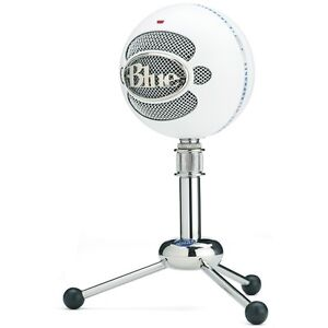 Blue snowball mic + pop filter and stand