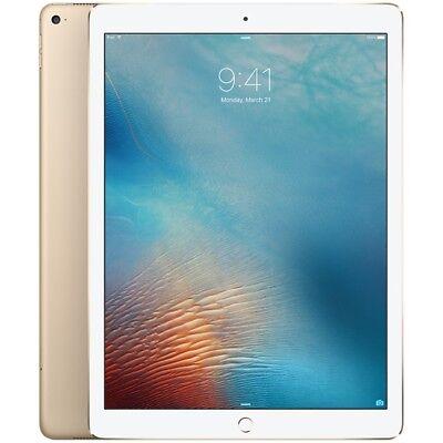 Apple iPad Pro 256GB, Wi-Fi + Cellular (Unlocked), 12.9in - Gold + Warranty