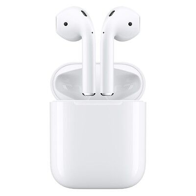 Apple AirPods White In-Ear Headsets with Charging Case BRAND NEW !
