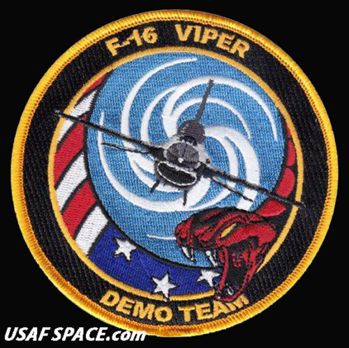 USAF 20th FIGHTER WING - F-16 VIPER DEMO TEAM -SHAW AFB, SC- ORIGINAL PATCH
