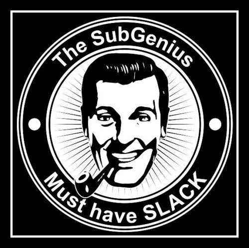 "4"" Church of SubGenius Must Have SLACK vinyl sticker. Bob Dobbs decal 4 laptop."