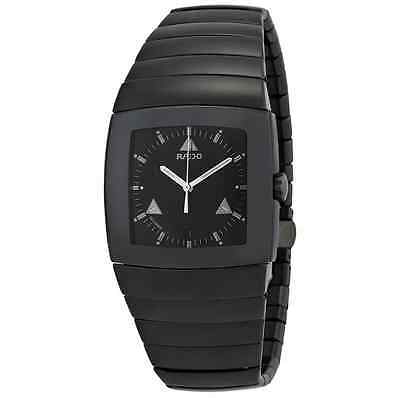 NWT Men's Rado Sintra R13765152 Black Ceramic Swiss Quartz Watch with Date
