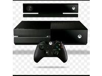 Xbox One with kinect and controller.