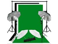 Pro photo/video backdrops and lights home studio set