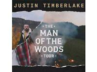 2 Justin Timberlake The Man of The Woods tickets 29TH AUGUST MANCHESTER ARENA