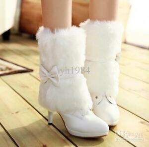 Winter Boots with Fur and Bow NEW, in box $ 65