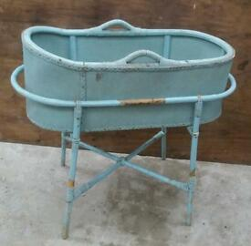 Antique Moses basket / crib / perfect for garden feature