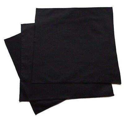 100% Organic Cotton Black Men's Handkerchiefs - Set of 3, USA made