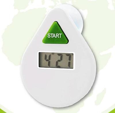 EcoSavers White 5 Minutes Drop Digital LCD Shower Coach Timer Water Saver  ()