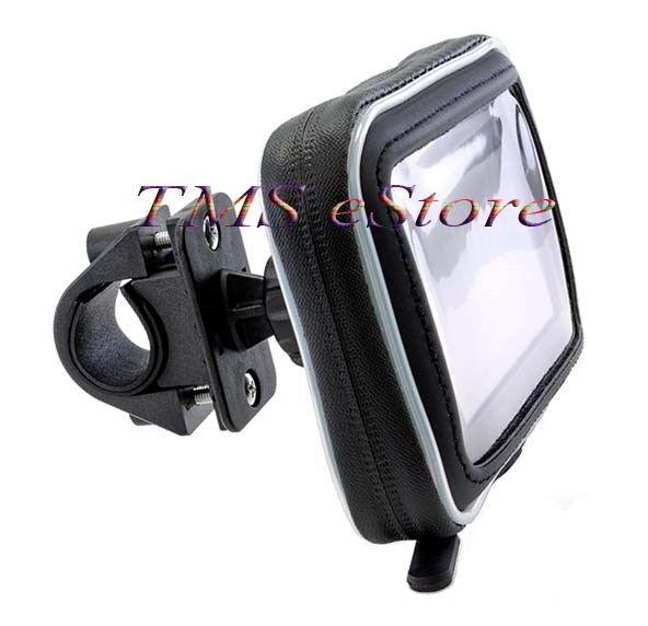 "Waterproof Case & Motorcycle Handlebar Mount for Garmin nuvi 2595 LMT 5"" GPS WPC"