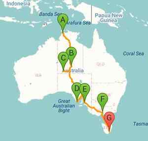 Lift offer: from Darwin to Tasmania! Looking for travelmates Darwin CBD Darwin City Preview