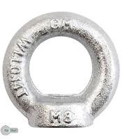 2 Ring Nut Ring Nuts Lashing Eyelet M8 Din 582 C15 Galvanized - keymet - ebay.co.uk
