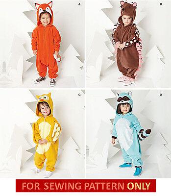 SEWING PATTERN! MAKE FOX~OWL~RACCOON~HEDGEHOG JUMPSUIT COSTUMES! TODDLER 1/2~4 - Hedgehog Costume Pattern