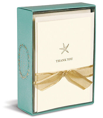 Starfish 10 Boxed Thank You Cards By Graphique De France