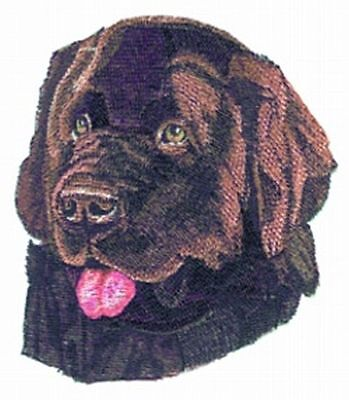 """Newfoundland Dog, Embroidered Patch 5.4"""" x 6.2"""""""
