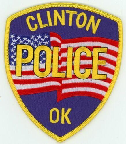 CLINTON POLICE OKLAHOMA OK NICE COLORFUL PATCH SHERIFF