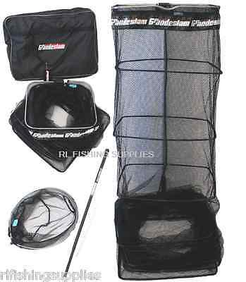 NEW CARP FISHING 3M COMMERCIAL KEEPNET COMBO WITH PAN NET, STINK BAG + HANDLE