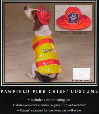 Fire Chief Halloween Costume (XSM PAWFIELD FIRE CHIEF Dog Halloween Costume FIREMAN Yorkie Poodle Shih)