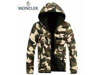 NEW M0NCL3R MEN'S QUILTED DOWN GREEN CAMO JACKET COAT SIZE L