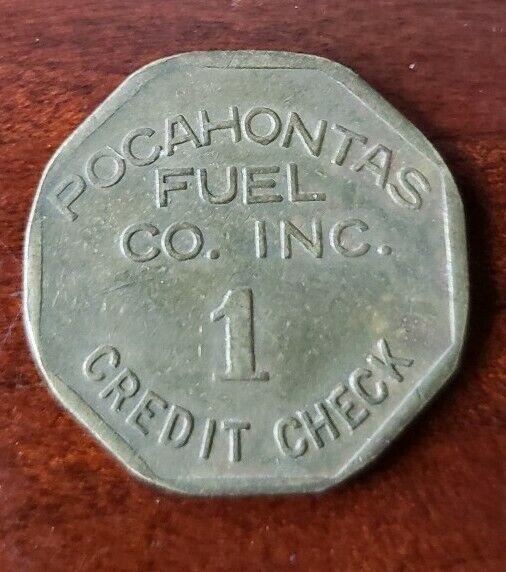 VINTAGE POCAHONTAS FUEL CO. WEST VIRGINIA COAL SCRIP TOKEN VIRGINIA 1¢