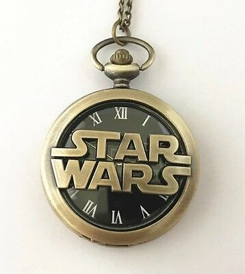 Star Wars Rouge One.Quartz Movment Pocket Watch With Pendant Necklace