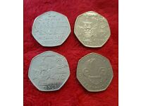 4 Collectable 50p coins