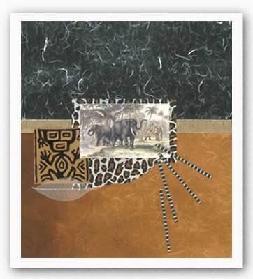 Palace Elephants Bryan Martin Art Print - Palace Elephants