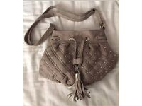 Grey Jane Norman bag with stud detail and tassel