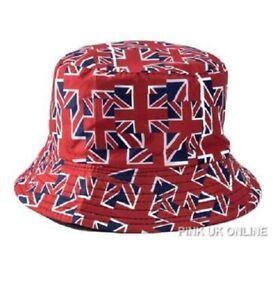 e146f6420cc New Unisex Fisherman Summer Festival Union Jack UK Flag Cotton Bucket Hat  Cap