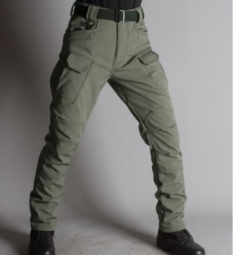 Hot Soft Shell Waterproof Pants Men's Overalls Combat Fleece