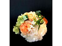 Flower Ball, Pompom, Silk, Artificial , Natural Look, Rustic, Wedding , Decoration, Decor.