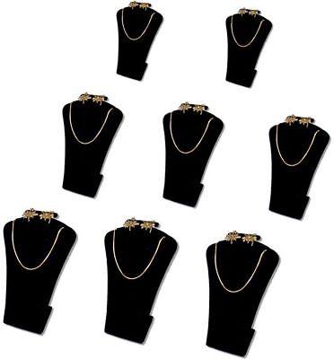5.5h 8pcs Set Black Velvet Earring Pendant Jewelry Display Stand Necklace Rd14b