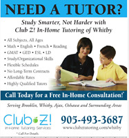 IN-HOME TUTORING (MATH, ENGLISH, FRENCH, CHEMISTRY, SCIENCE)