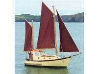 Sailing boat- 24' Motorsailer. Engine only 50hrs.Excellent sails. Mooring. PRICE REDUCTION
