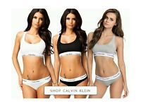 Brand New With Tags Ladies Calvin Klein Sports Bra&Thong Sets 3 Colours £25 Each